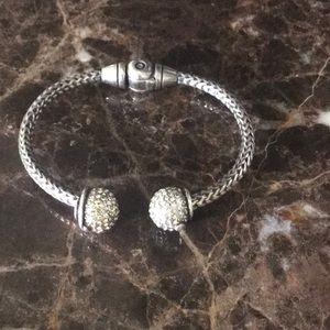 Jewelry - Silver and CZ bangle bracelet